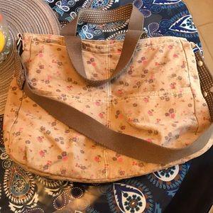 Brown floral travel bag from Target NWOT